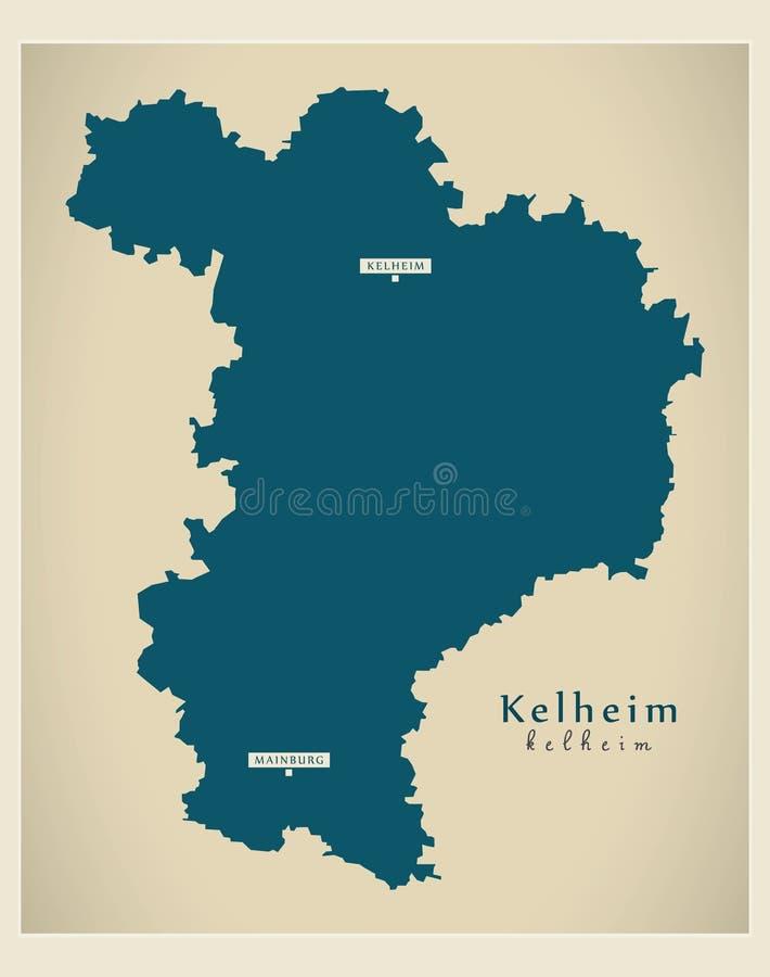 Nowo?ytna mapa - Kelheim Bavaria DE okr?g administracyjny ilustracja wektor