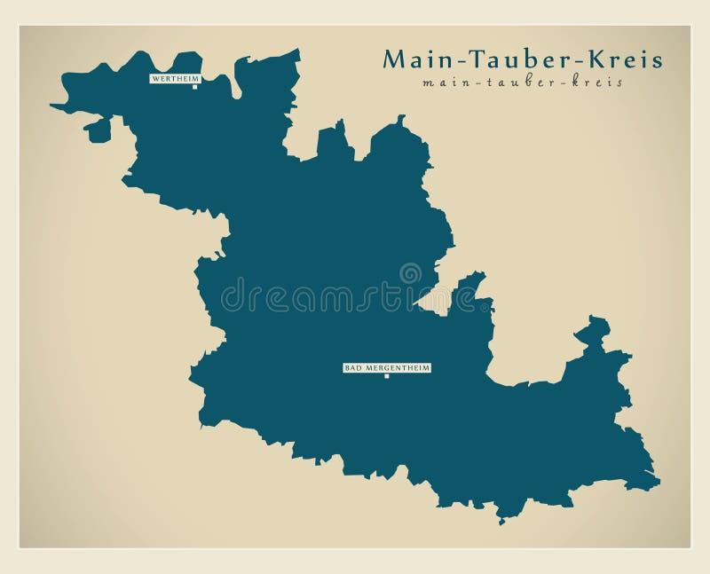 Nowożytna mapa - magistrali Baden Wuerttemberg DE okręg administracyjny ilustracja wektor