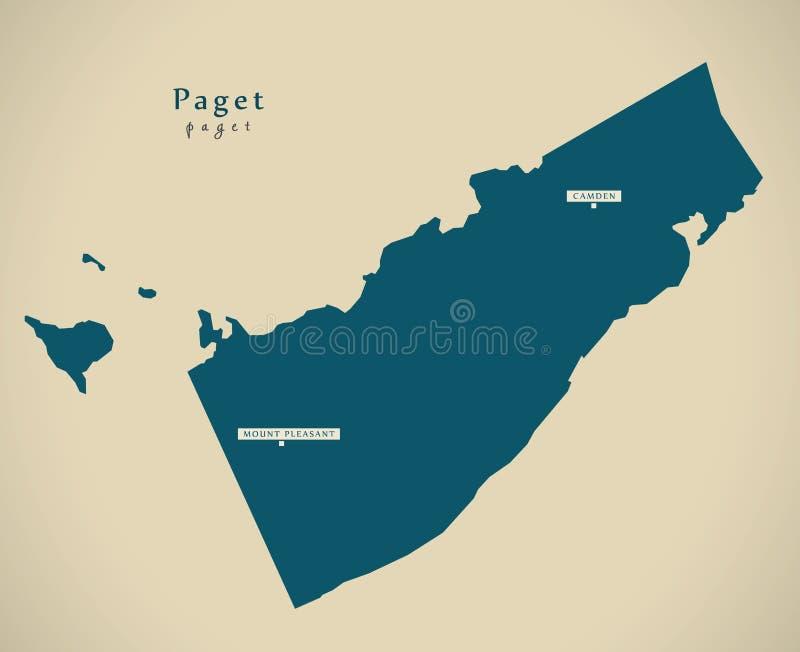 Nowożytna mapa - Paget BM royalty ilustracja