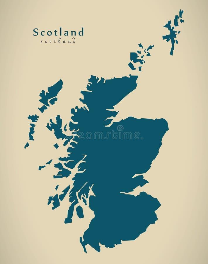 Nowożytna mapa - Szkocja UK ilustracja wektor