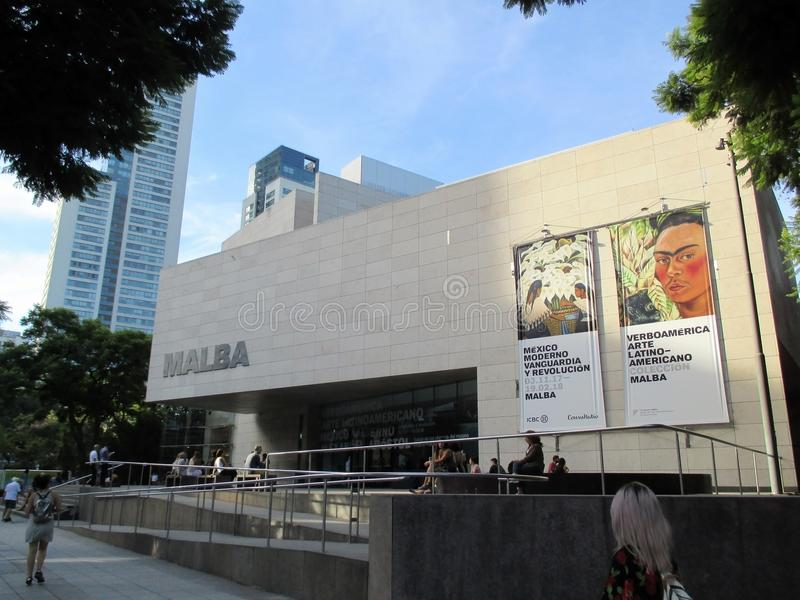 Nowożytna Meksyk wystawa Awangarda i rewolucja - Museo MALBA Buenos Aires Argentyna zdjęcia stock