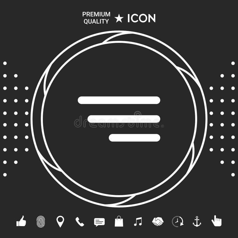 Nowożytna menu ikona dla mobilnych apps i stron internetowych Graficzni elementy dla twój designt royalty ilustracja