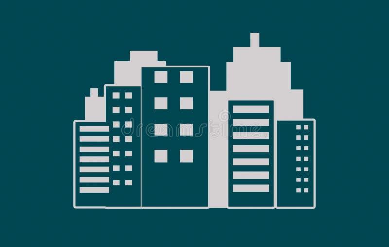 Nowożytna miasta linia horyzontu ilustracja - nowożytnej abstrakcjonistycznej architektury miasta linia horyzontu miastowa ilustr ilustracja wektor
