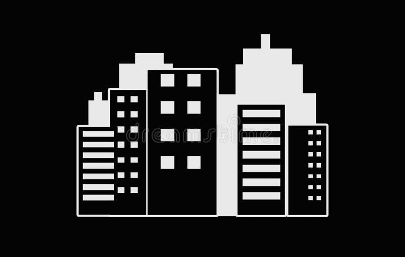 Nowożytna miasta linia horyzontu ilustracja - nowożytnej abstrakcjonistycznej architektury miasta linia horyzontu miastowa ilustr royalty ilustracja