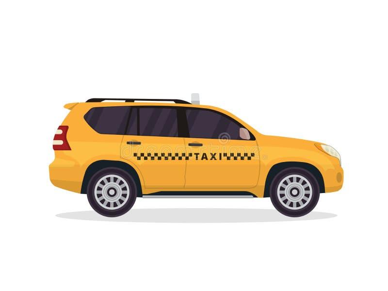 Nowożytna Miastowa Żółta taxi pojazdu ilustracja ilustracja wektor