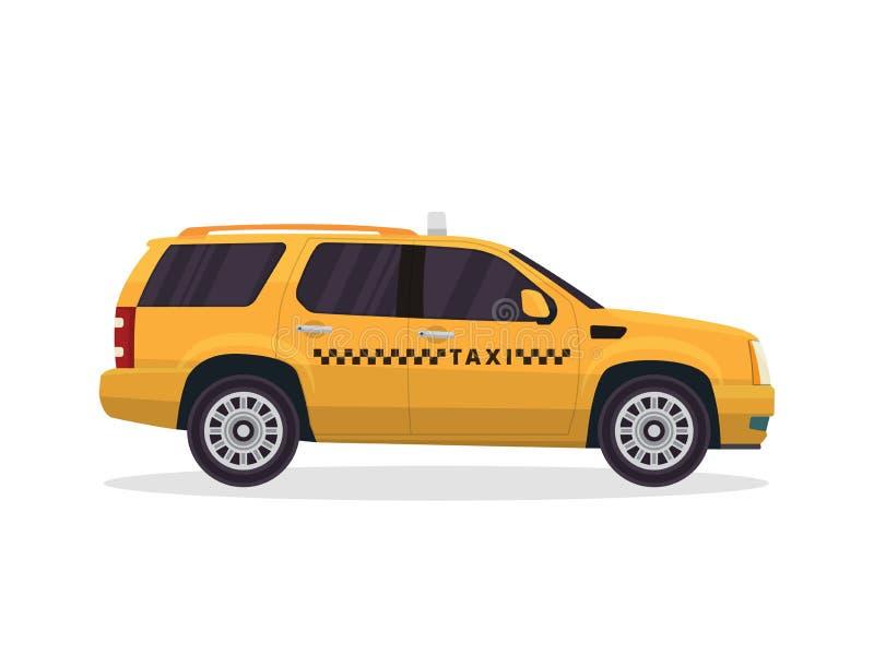 Nowożytna Miastowa Żółta taxi pojazdu ilustracja ilustracji