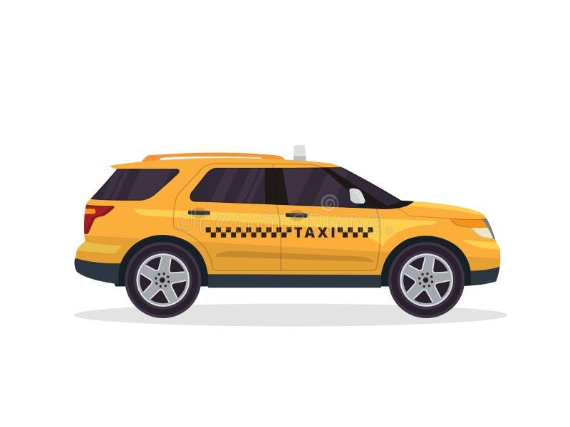 Nowożytna Miastowa Żółta taxi pojazdu ilustracja royalty ilustracja