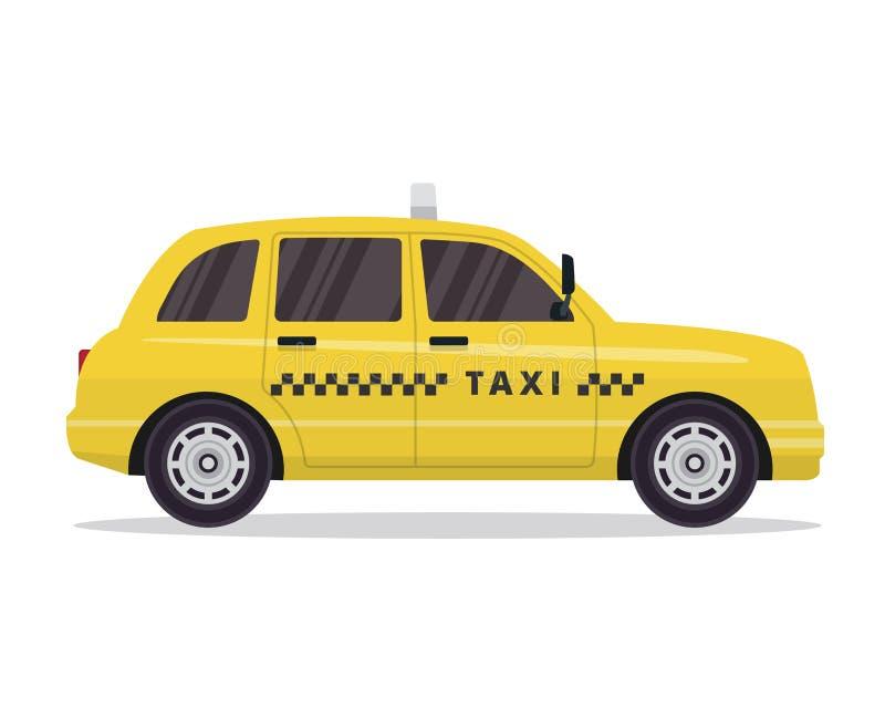 Nowożytna Miastowa Żółta taxi pojazdu ilustracja W Odosobnionym Białym tle ilustracji