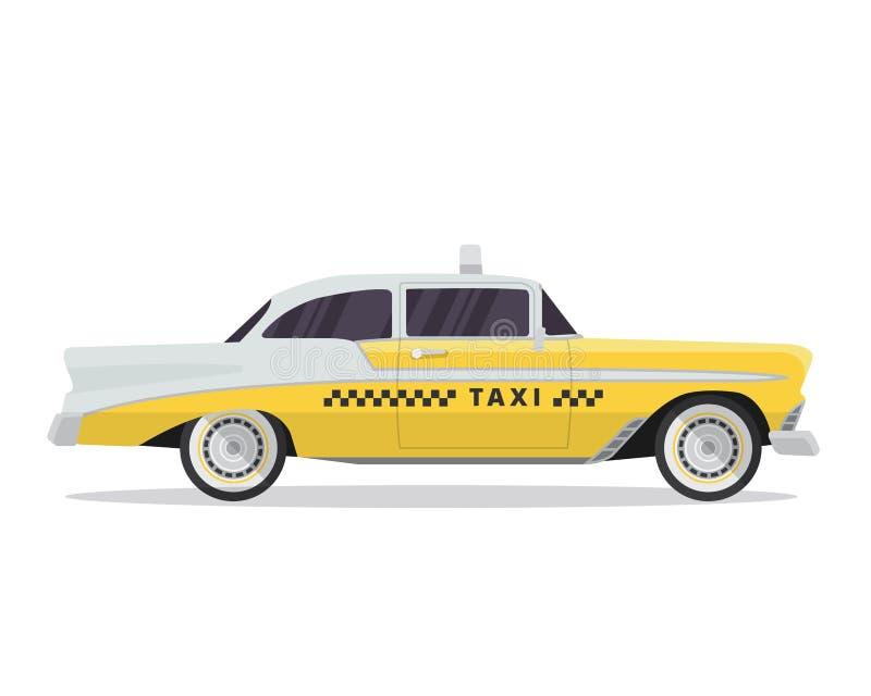 Nowożytna Miastowa Żółta taxi pojazdu ilustracja W Odosobnionym Białym tle royalty ilustracja