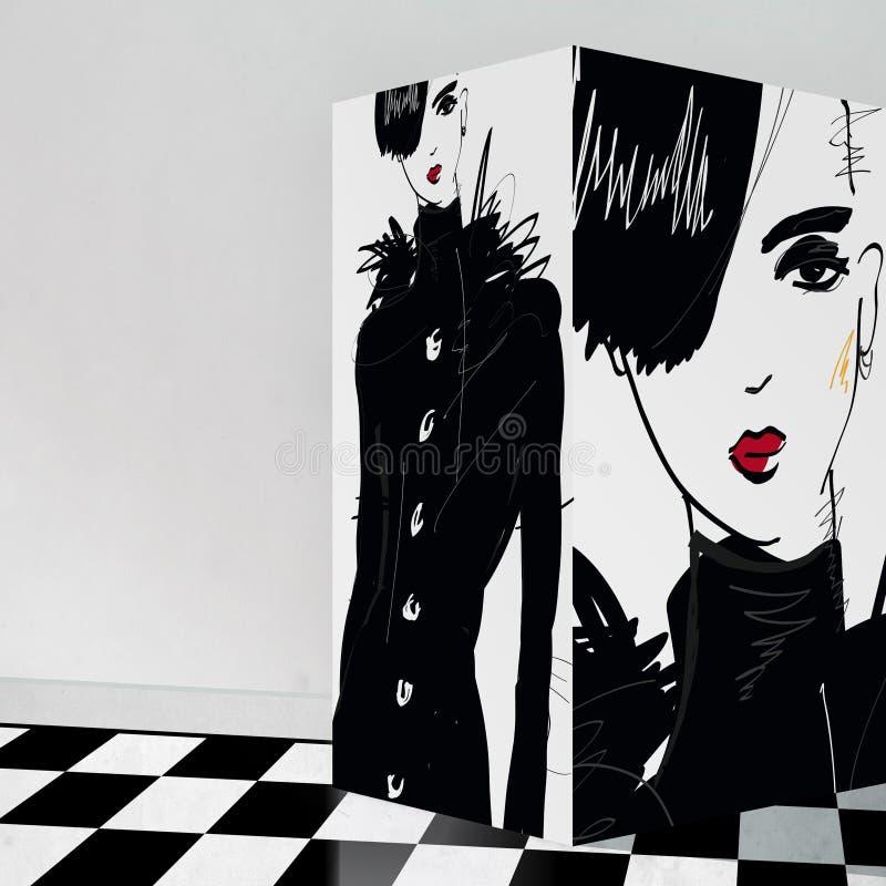 Download Nowożytna Nastoletnia Dziewczyna Z Galerii Wnętrzem Zdjęcie Editorial - Obraz złożonej z grunge, splendory: 65225651