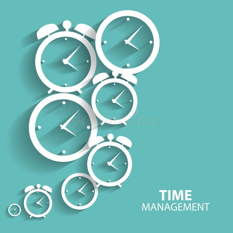 Nowożytna Płaska czasu zarządzania Wektorowa ikona dla sieci royalty ilustracja
