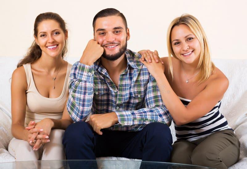 Nowożytna poligamiczna rodzina zdjęcie stock