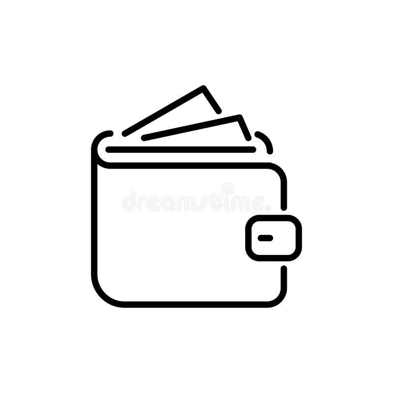 Nowożytna portfel linii ikona ilustracji