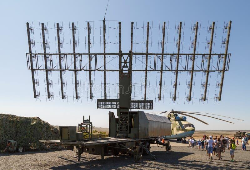 Nowożytna Rosyjska militarna mobilna radarowa stacja 1L119 obrazy royalty free