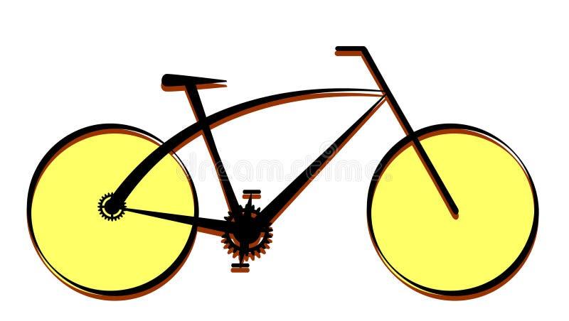 Nowożytna rower ikona, wektor royalty ilustracja