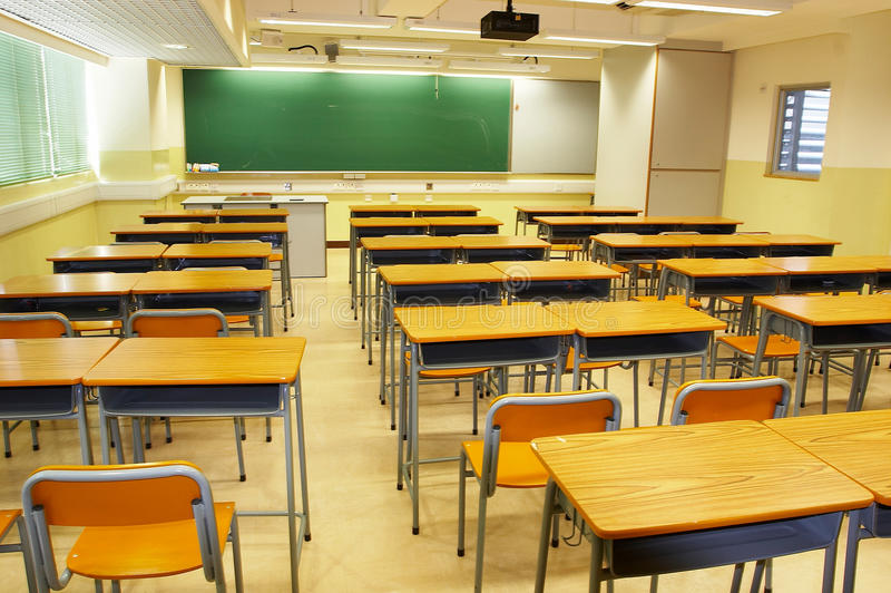 nowożytna sala lekcyjnej szkoła zdjęcie royalty free