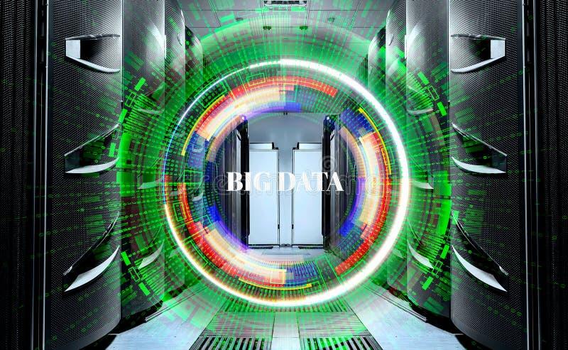 Nowożytna sieć interneta i sieci telekomunikacyjna technologia, dużego przechowywania danych obłoczny oblicza komputerowy poważny royalty ilustracja