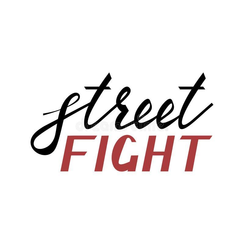 Nowożytna szczotkarska wpisowa uliczna walka ilustracji