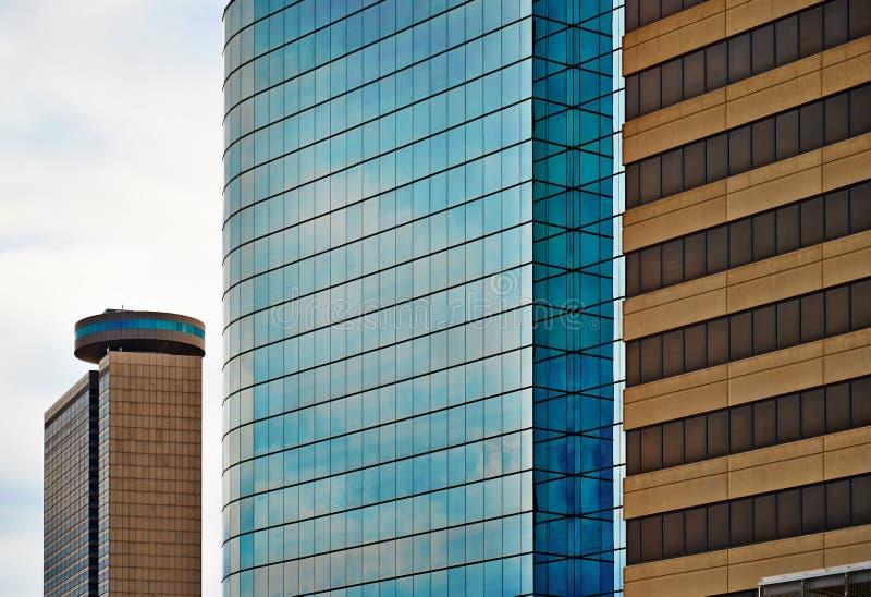 Nowożytna Szklana architektura w Kansas City - mieszkań własnościowych mieszkania obrazy stock