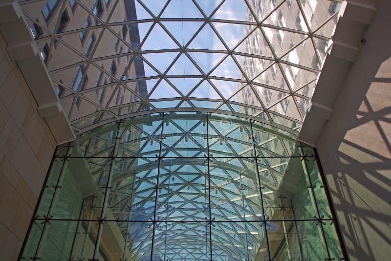 Nowożytna szklana fasada obraz royalty free