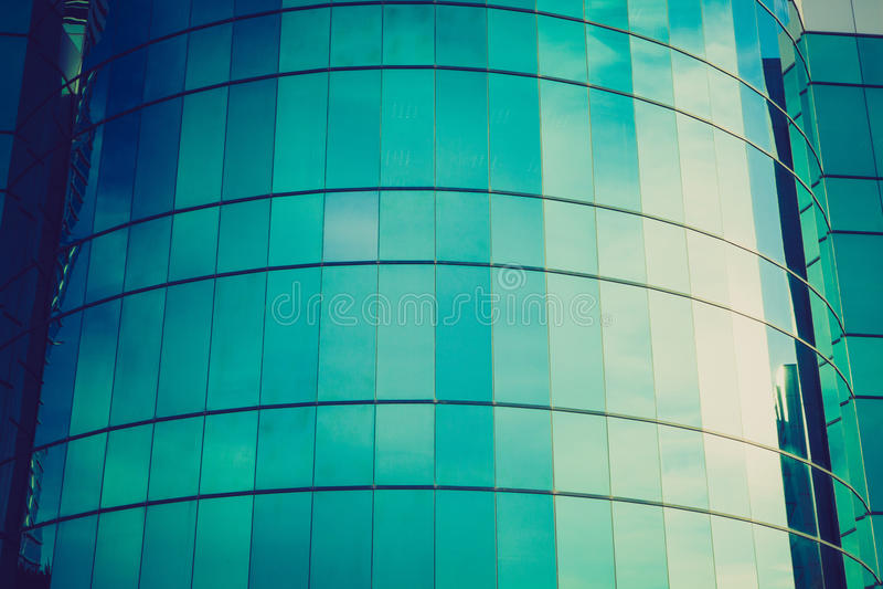 Nowożytna szklana fasada zdjęcia stock