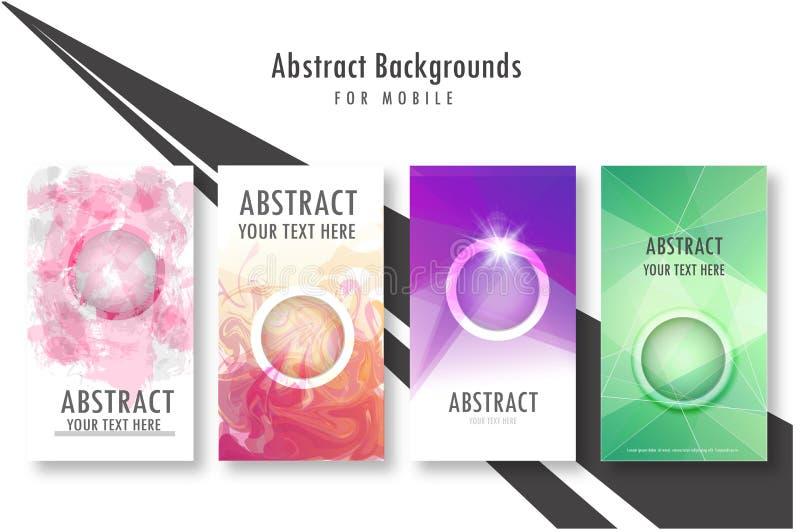 Nowożytna Wektorowa abstrakcjonistyczna broszurka, książka, ulotka lub projekta szablon, royalty ilustracja