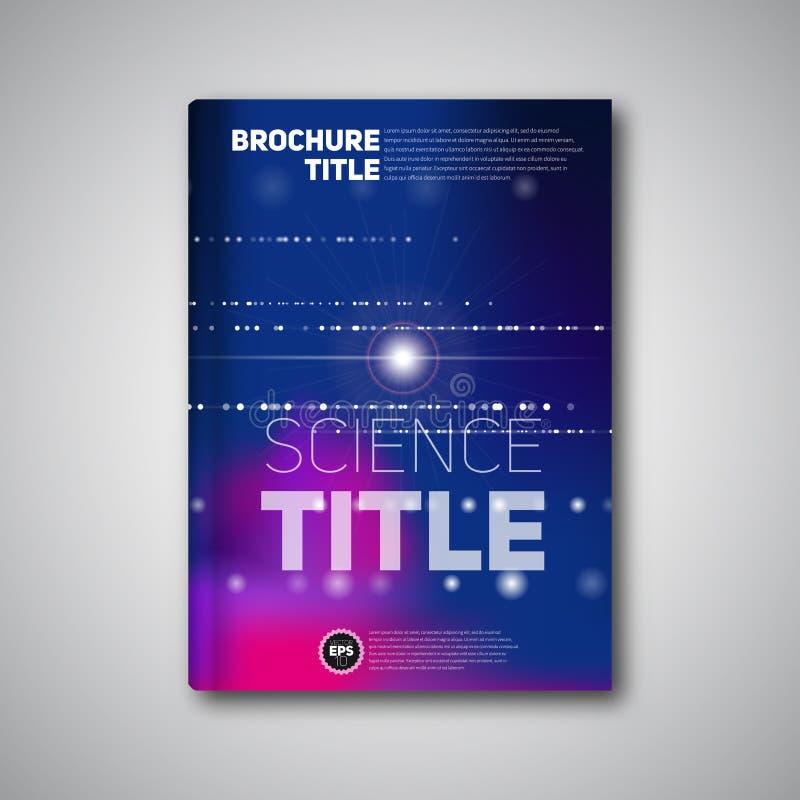 Nowożytna Wektorowa abstrakcjonistyczna broszurka, książka, ulotka projekta szablon ilustracja wektor