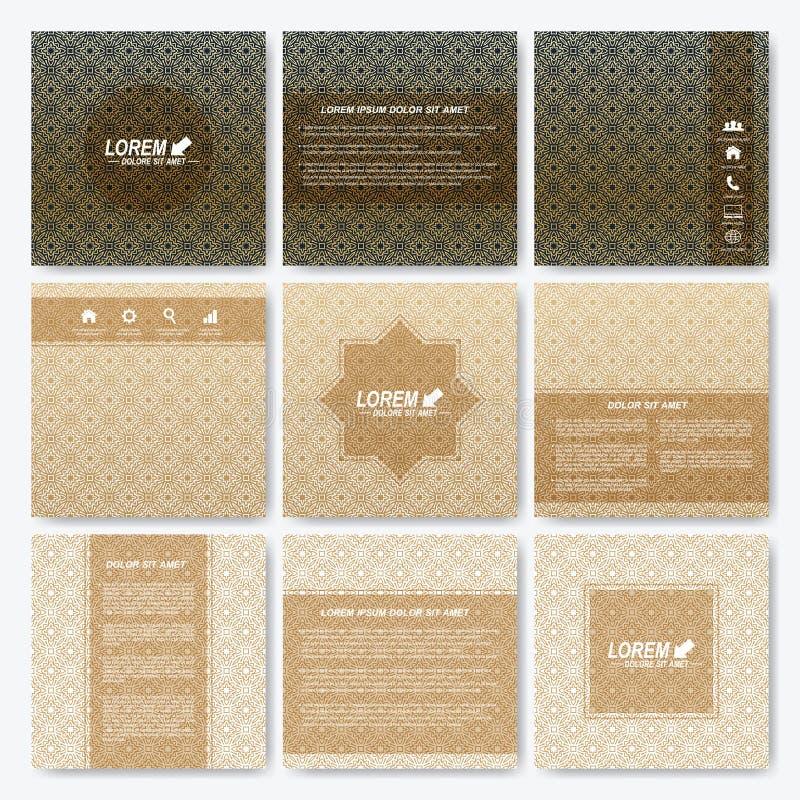 Nowożytna wektorowa szablonu kwadrata broszurka, ulotka, pokrywa, magazyn lub sprawozdanie roczne, ilustracja wektor