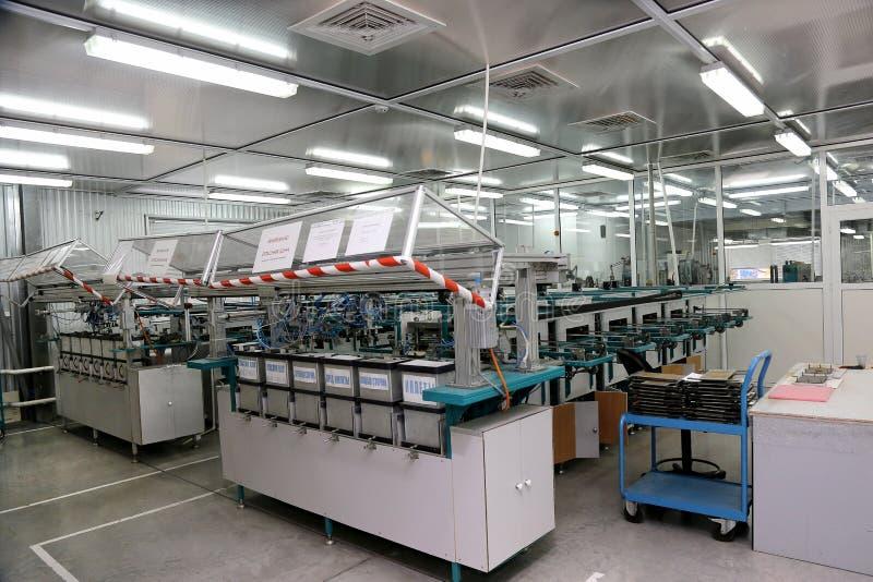 Nowożytna wewnętrzna elektronika składników produkcja, części warehou zdjęcie stock