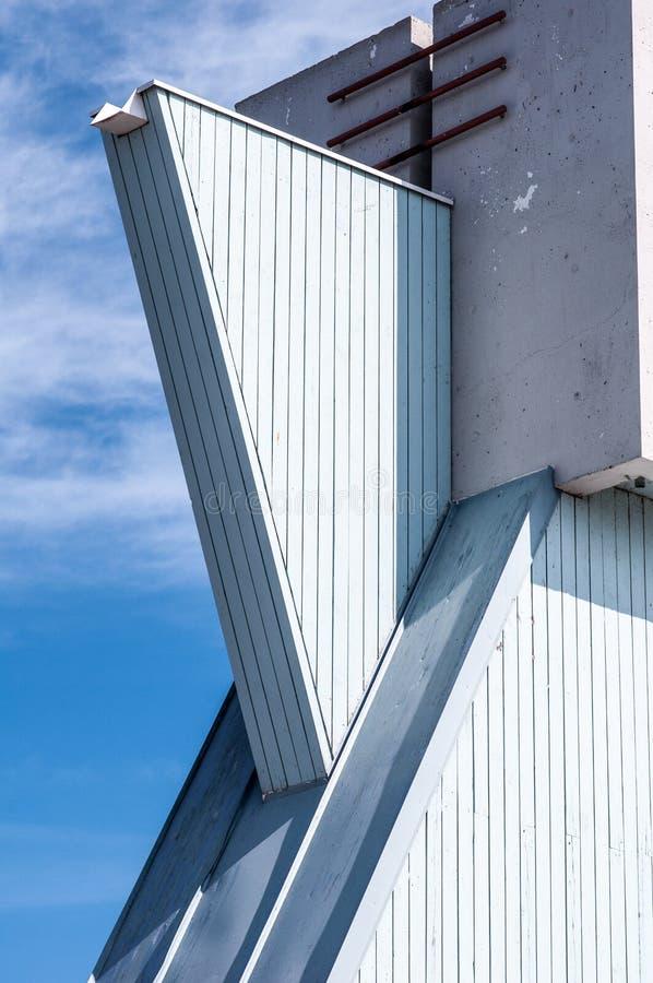 Nowożytna wieża obserwacyjna, szczegóły, przykład nowożytna finnish architektura i projekt, zdjęcie royalty free