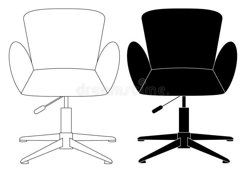 Nowożytna wygodna eleganckiego i eleganckiego krzesła ustalona ikona ilustracji