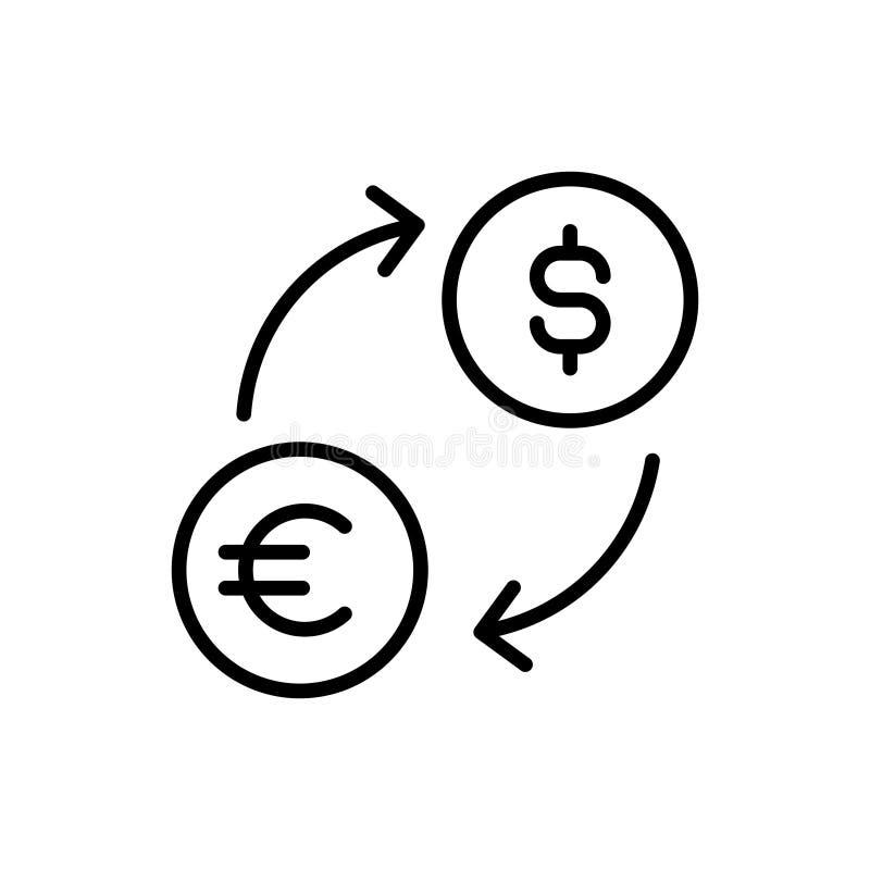 Nowożytna wymiany linii ikona ilustracja wektor