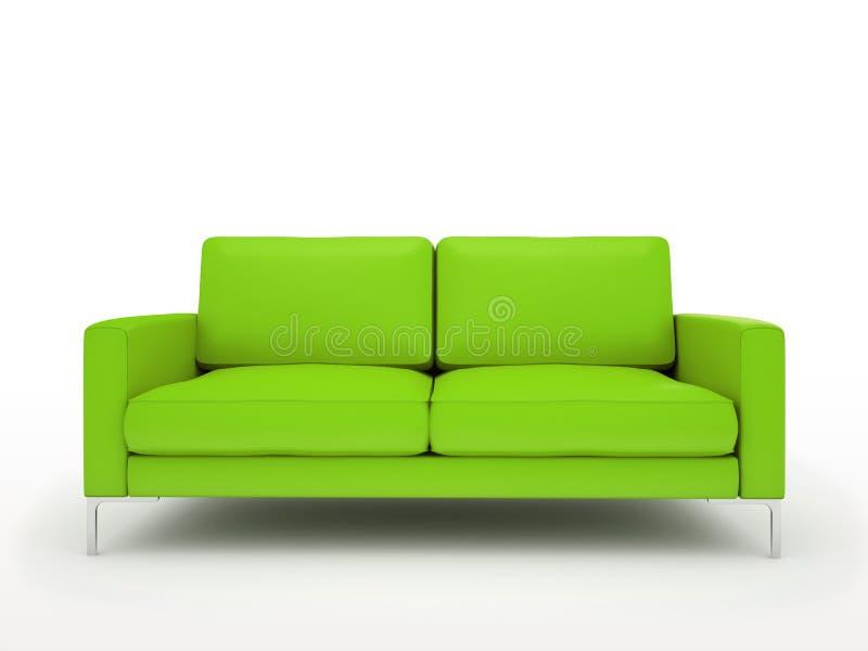 Nowożytna zielona kanapa ilustracja wektor