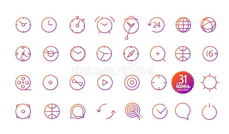 Nowożytne medialne sieci i wiszącej ozdoby app cienkie kreskowe ikony ilustracji