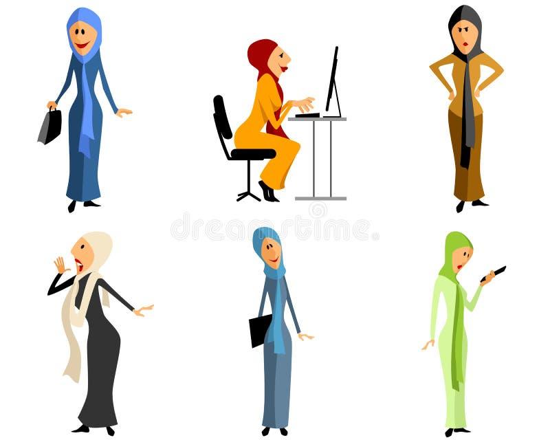 Nowożytne muzułmańskie dziewczyny royalty ilustracja
