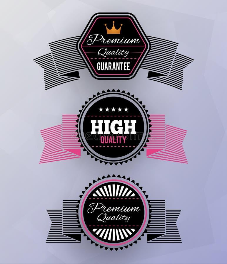 Nowożytne odznaki royalty ilustracja