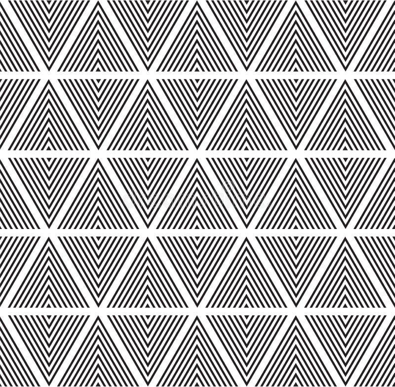 Nowożytnego abstrakcjonistycznego geometria wzoru trójboka czarny i biały kolor ilustracja wektor