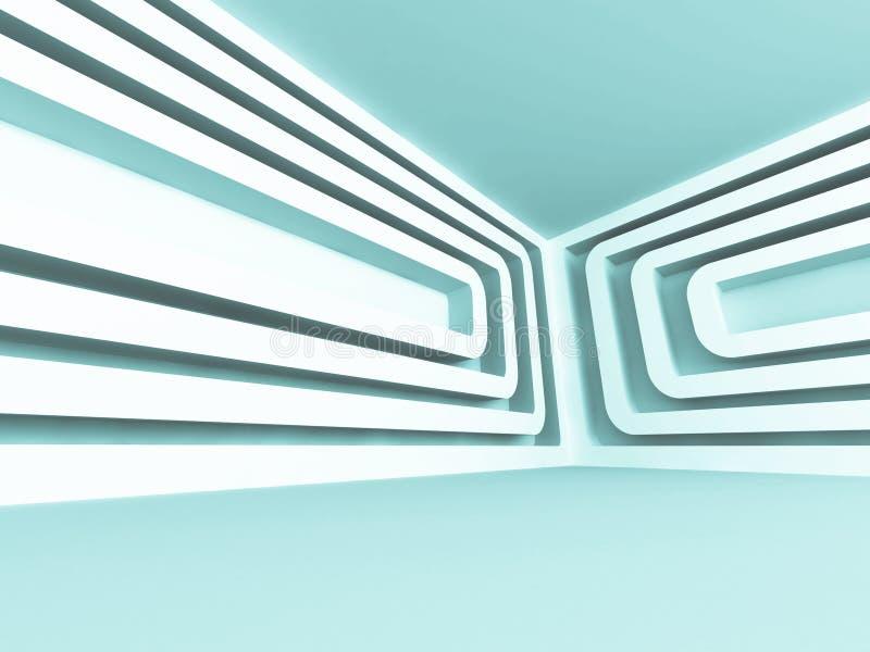 Nowożytnego Futurystycznego projekta architektury Pusty Wewnętrzny tło ilustracji