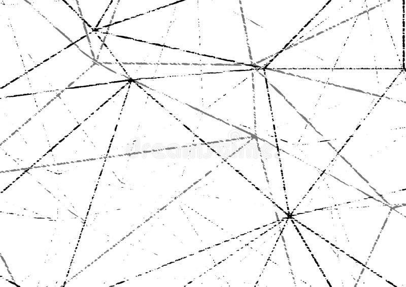 Nowożytnego grunge wireframe zakłopotanego halftone krupiasty układ łatwy ilustracja wektor