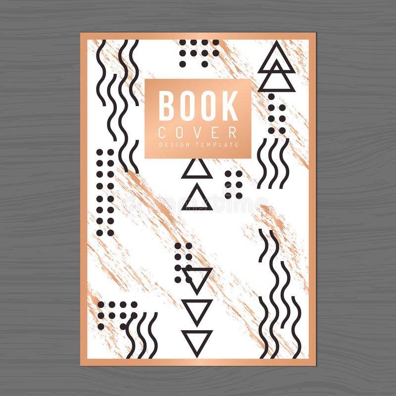 Nowożytnego i czystego projekta książkowa pokrywa, Plakata Ulotka, Firma profil, sprawozdanie roczne projekta układu szablon w A4 royalty ilustracja