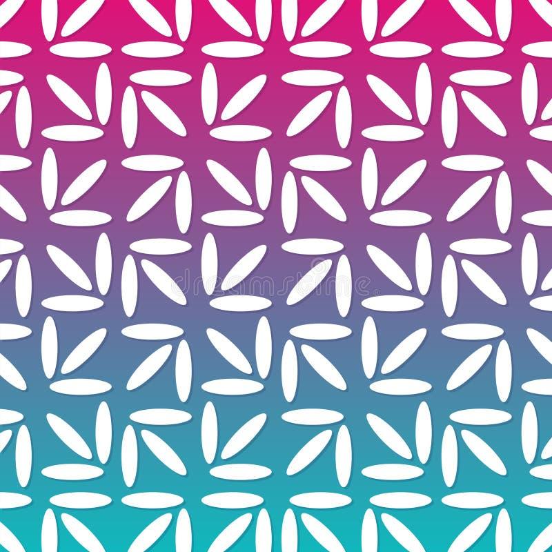 Nowożytnego Kwiecistego abstrakta wzoru Geometryczny Kreskowy Gradientowy tło ilustracji