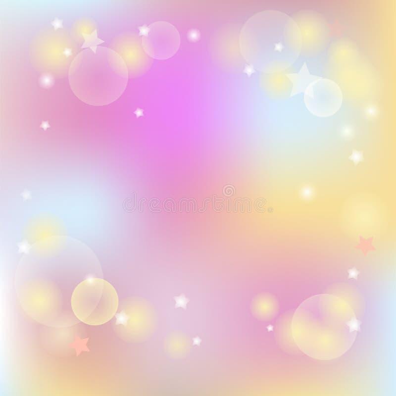 Nowożytnego pastelu barwiony tło ilustracji