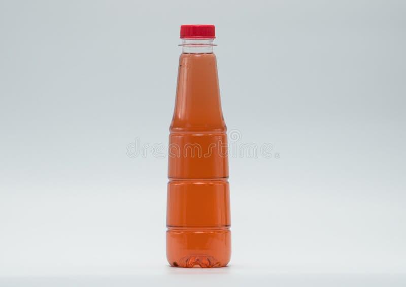 Nowożytnego projekta butelki miękki napój, właśnie dodają twój swój tekst zdjęcia royalty free