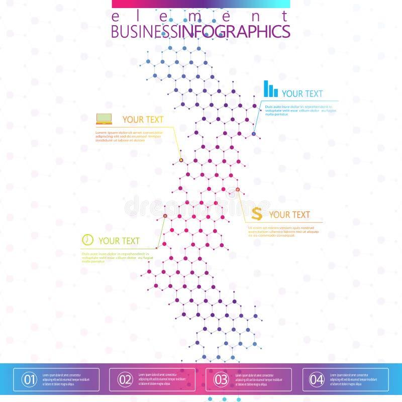 Nowożytnego projekta dna na szarym tle, pojęcie szablon dla infographics ilustracji