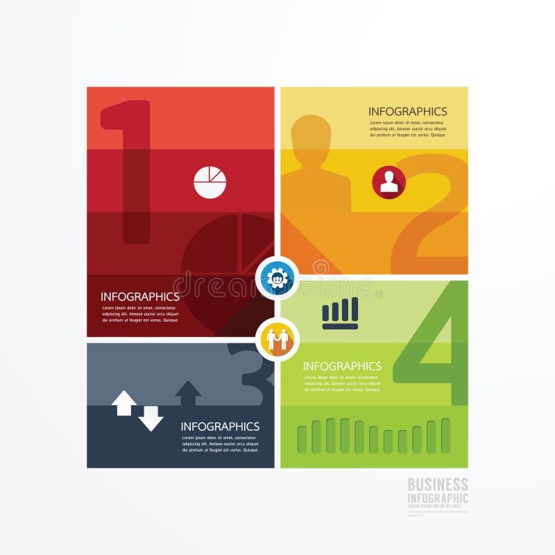 Nowożytnego projekta infographic szablon może używać dla infographics ilustracja wektor