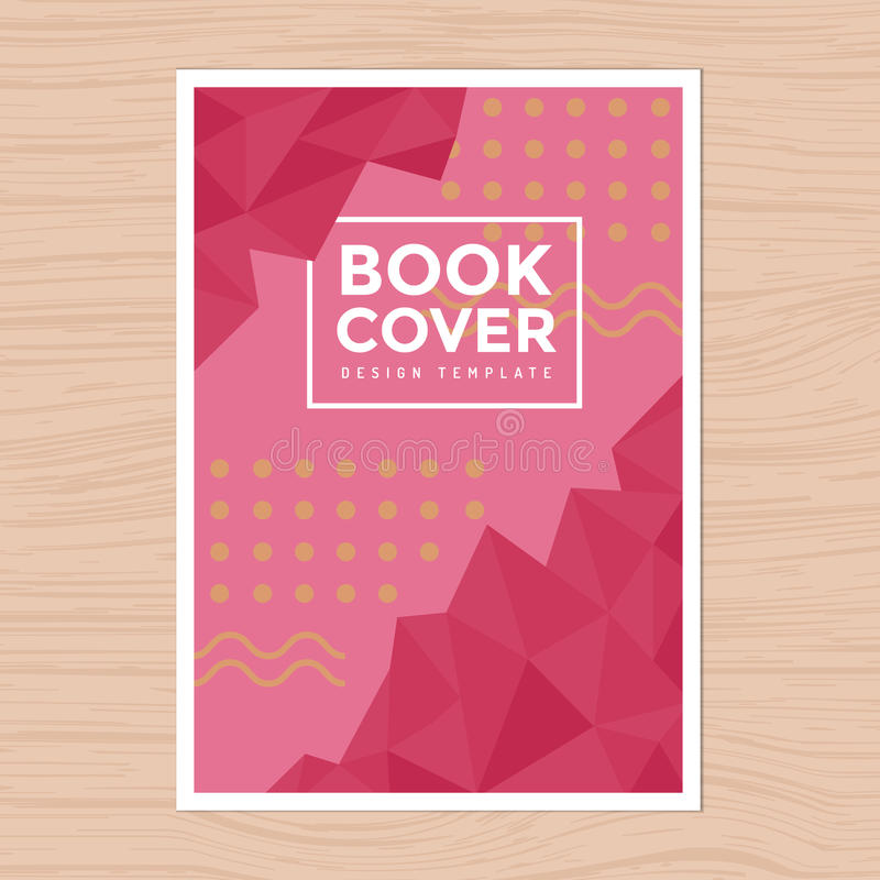 Nowożytnego projekta Książkowa pokrywa, Plakata Ulotka, Firma profil, sprawozdanie roczne projekta układu szablon w A4 rozmiarze ilustracja wektor
