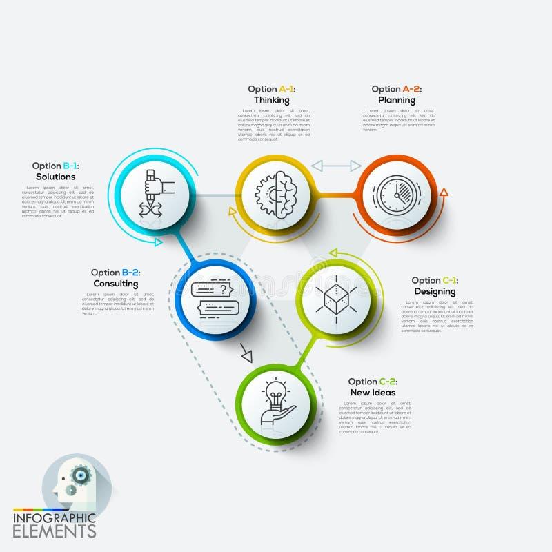 Nowożytnego projekta minimalny stylowy infographic szablon ilustracja wektor