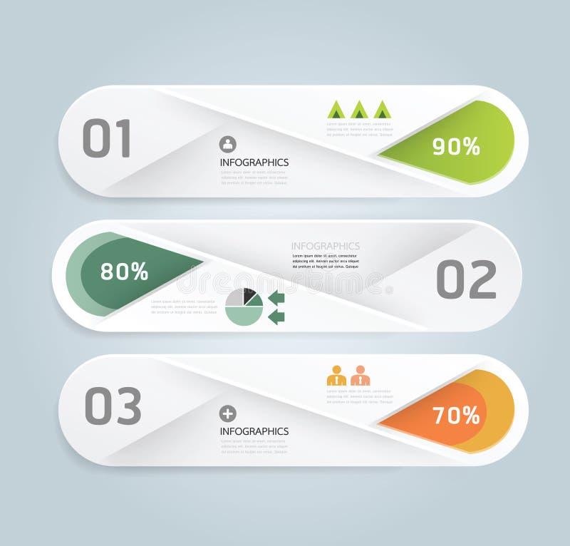 Nowożytnego projekta Minimalny stylowy infographic szablon z abecadłem ilustracja wektor