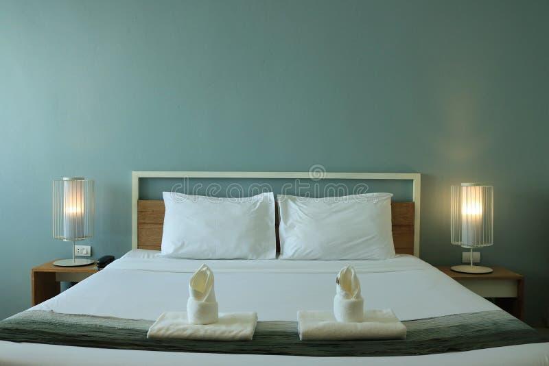 Nowożytnego projekta sypialni wnętrze zdjęcia royalty free