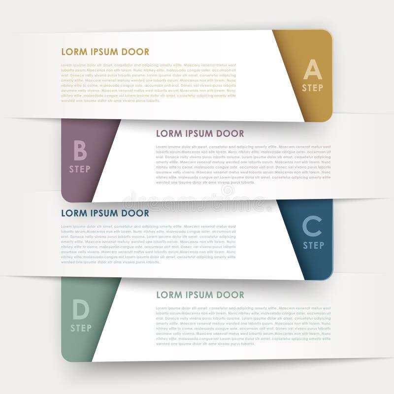 Nowożytnego projekta sztandarów szablonu infographic elementy ilustracji